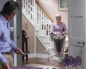 using-the-stairlift-chair